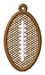 Football Ornament embroidery design