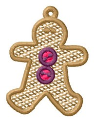 Gingerbread Man Ornament embroidery design