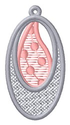 Teardrop & Oval Ornament embroidery design