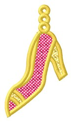 High Heel Ornament embroidery design
