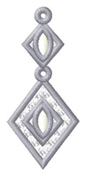 Diamond Drop Ornament embroidery design