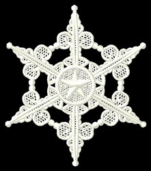 Lace Snowflake embroidery design