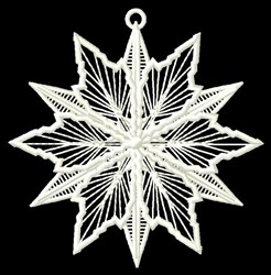Snow Flake Ornament embroidery design