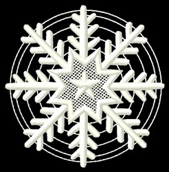 Star Snowflake embroidery design