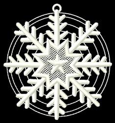 Round Snowflake embroidery design