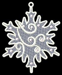 Snow Flake FSL embroidery design