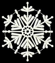 Hexagon Snowflake embroidery design