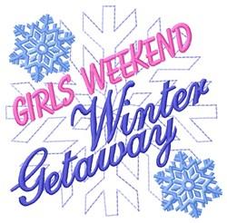 Winter Getaway embroidery design