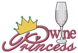 Wine Princess embroidery design