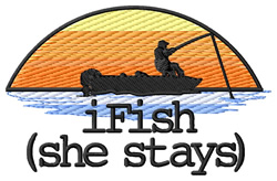iFish (She Stays) embroidery design