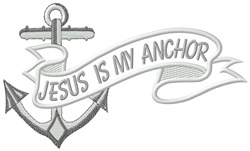 My Anchor embroidery design