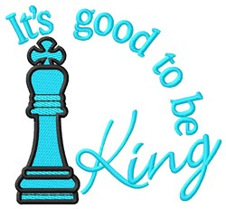 Good to Be King embroidery design