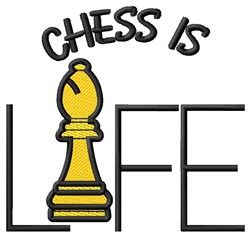 Chess is Life embroidery design