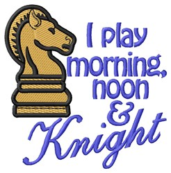 Morning Noon & Knight embroidery design