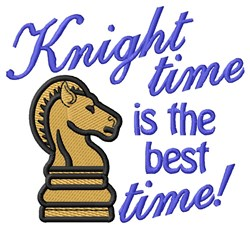 Knight Time embroidery design