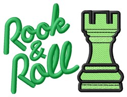 Rook & Roll embroidery design