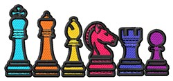 Chess Pieces Border embroidery design