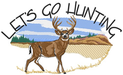 Lets Go Hunting embroidery design