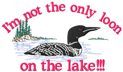 Loon on the Lake embroidery design