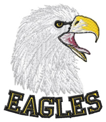 Eagles Mascot embroidery design