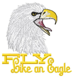 Fly Like an Eagle embroidery design