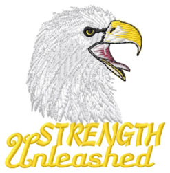 Strength Unleashed embroidery design