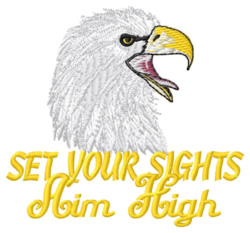 Aim High Eagles embroidery design
