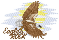 Eagles Rock embroidery design