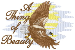 A Thing of Beauty embroidery design