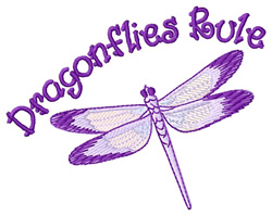 Dragonflies Rule embroidery design