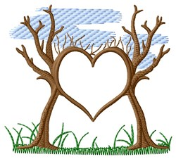 Tree Heart embroidery design