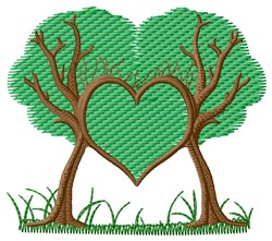 Trees Heart embroidery design