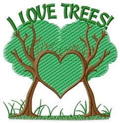 Love Trees embroidery design