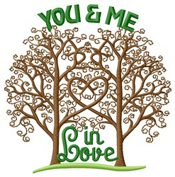 You Me Love embroidery design