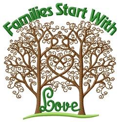 Start Love embroidery design
