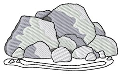 A Rock Pile embroidery design