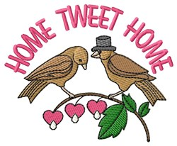 Home Tweet Home embroidery design
