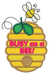 Busy as a Bee embroidery design