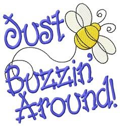 Buzzin Around embroidery design