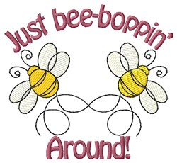Bee Boppin embroidery design
