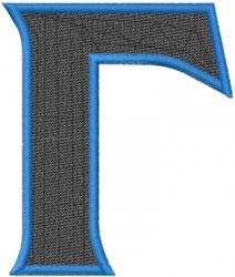 Toga Gamma embroidery design