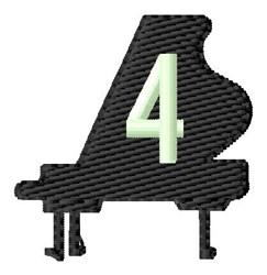 Grand Piano 4 embroidery design