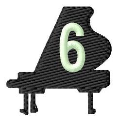 Grand Piano 6 embroidery design