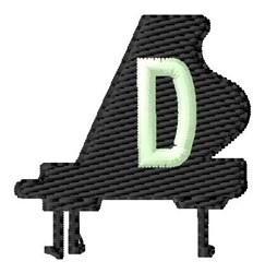 Grand Piano D embroidery design