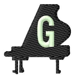 Grand Piano G embroidery design