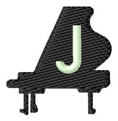 Grand Piano J embroidery design
