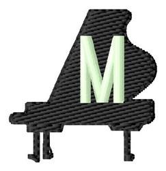Grand Piano M embroidery design
