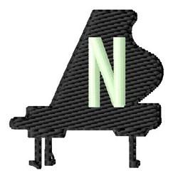 Grand Piano N embroidery design