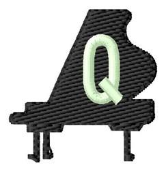 Grand Piano Q embroidery design