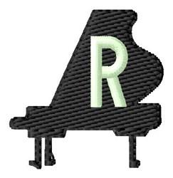 Grand Piano R embroidery design